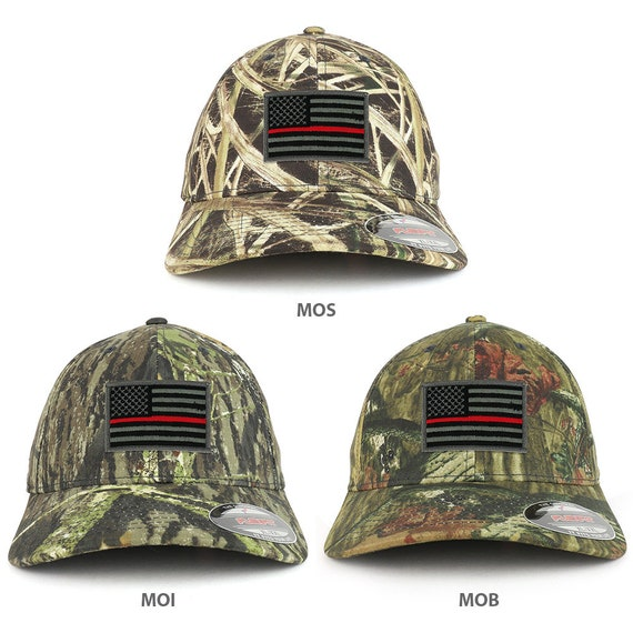 446772911bf XXL Oversized Mossy Oak Thin Red Line American Flag Patch