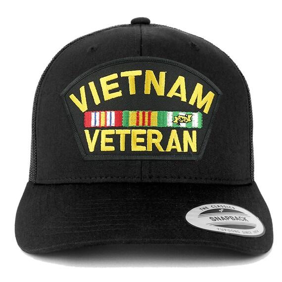 Armycrew XXL Oversize Vietnam Veteran Large Patch Baseball Cap