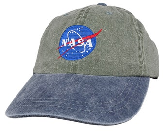 NASA Insignia Meatball Embroidered Washed Cotton Cap - 9 Colors