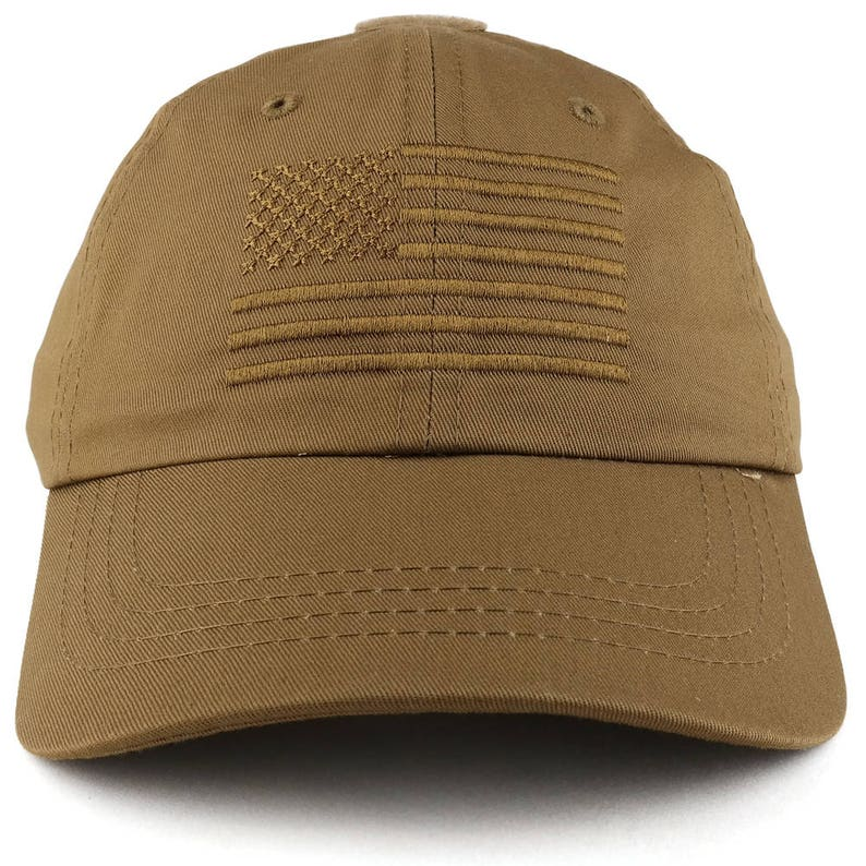 Low Profile Soft Crown Tactical Operator Cap with American Embroidered Flag  (ROTHCO-FLAGCAP-4364)