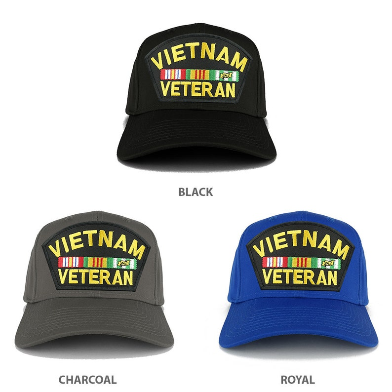 XXL Oversize Vietnam Veteran Large Patch Baseball Cap (27-079XX-PML181)