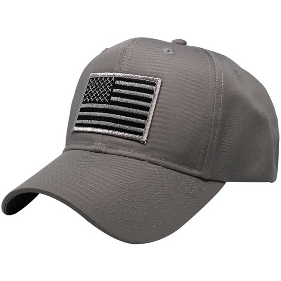 Subdued Grey American Flag Embroidered Iron On Patch Ball Cap  0e376a213b4