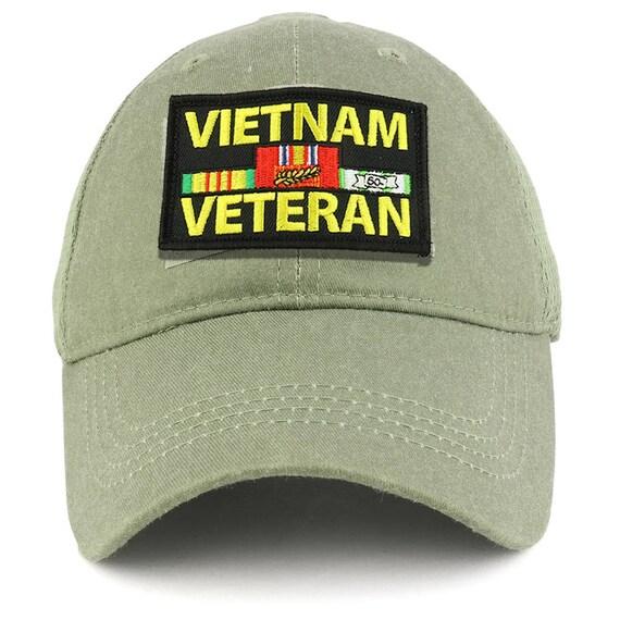 Khaki Washed cotton cap dad hat AFGHANISTAN VETERAN RIBBON