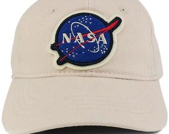Officially Licensed Toddler to Youth NASA Insignia 100% Cotton Baseball Cap (U-CAP-KIDSNASA)