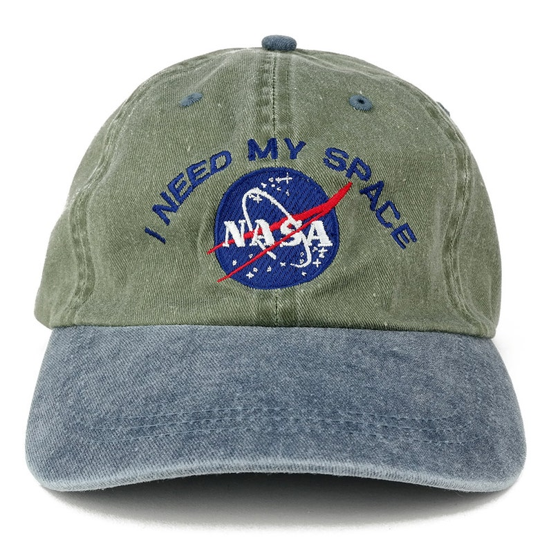 4c47d0a88dd I NEED MY SPACE Nasa Meatball Embroidered 100% Cotton Cap
