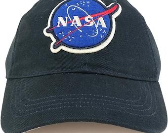 Officially Licensed NASA Insignia Emblem Cotton Low Profile Baseball Cap (U-CAP-NASA-01)