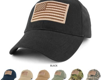 USA American Flag Embroidered Desert Tactical Patch with Adjustable Operator Cap (EC-72063-USA-Des)