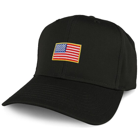 XXL Oversize usa Small Flag Iron On Patch Solid Baseball Cap  95994f1b4db