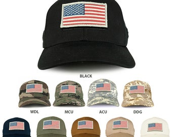USA White Flag Tactical Patch Structured Operator Baseball Cap (T75-17750)