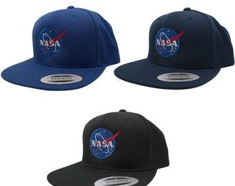 Flexfit Original Premium Snapback Cap with NASA Insignia Embroidery