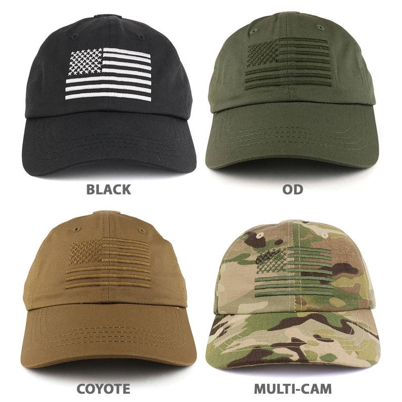 Low Profile Soft Crown Tactical Operator Cap with American  d8ed143379c8