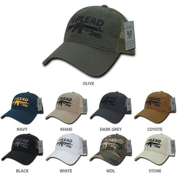 I Plead the 2nd Embroidered Unstructured Mesh Back Cotton Cap (A05-IP2)