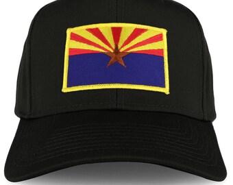 XXL Oversize Arizona Flag Iron On Patch Solid Baseball Cap  (27-079XX-FPA503)