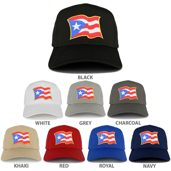 74c18e1984a Puerto Rico Waving Flag Patch Structured Baseball Cap