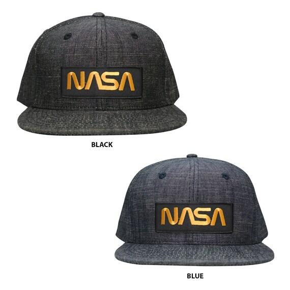 FREE SHIPPING Oversize XXL NASA Worm Red Text Patch Retro Trucker Mesh Cap