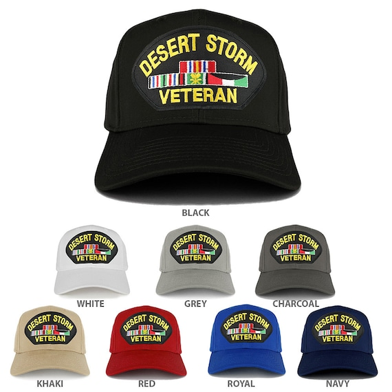 482f6b0a7898 Armycrew Desert Storm Veteran Embroidered Patch Snapback | Etsy