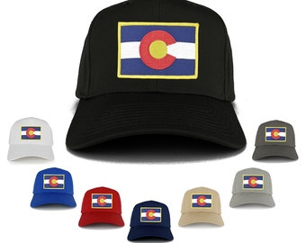 Colorado Western State Flag Embroidered Patch Adjustable Baseball Cap (27-079-FPA506)