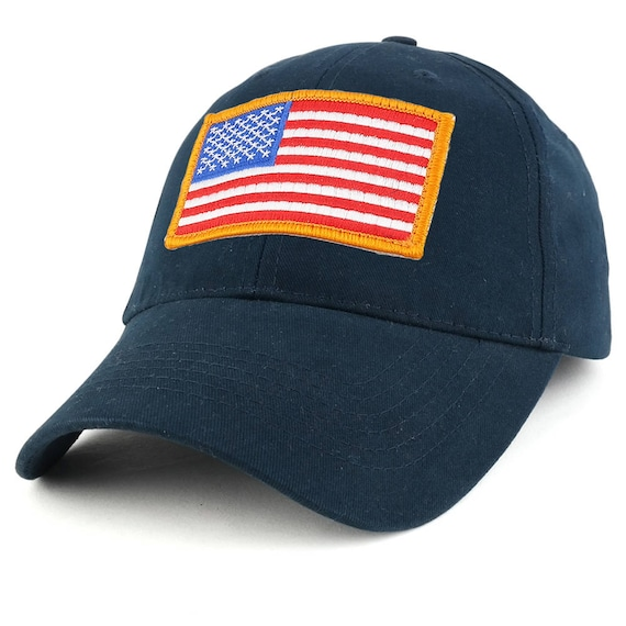 Navy USA American Flag Patch United States Tactical Operator Baseball Hat Cap
