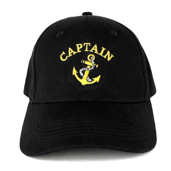 Captain Anchor Logo Embroidered Plain Baseball Cap 3 Colors