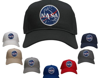 NASA Space Insignia Meatball Embroidered Iron On Logo Patch Snapback Cap (27-079-MEATBALL)
