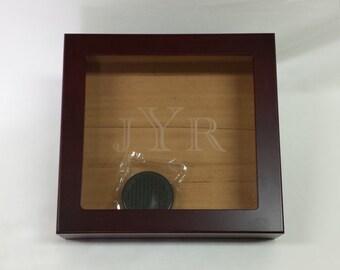 Engraved Glass Humidor Cigar Box, Custom Humidor,  Groomsmen Gift, Best Man Gift, Cigar Humidor, Personalized Humidor, Personalize Humidor