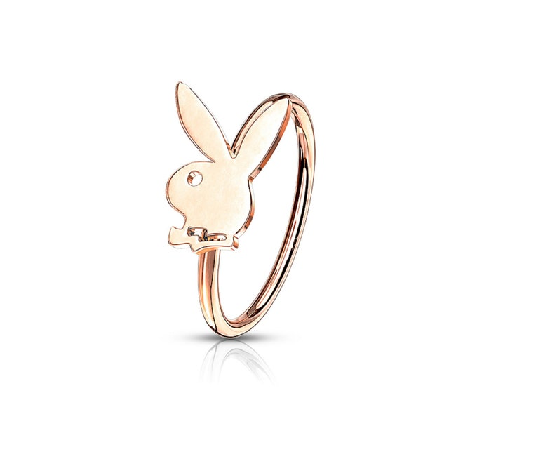 Rose Gold Hoop Nose Ring Ear Cartilage Helix Earring Body Jewelry