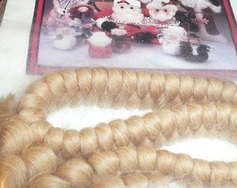 """12/""""R Curly Braid Wool DOLL WIG /& THEATRE Facial hair Model horses Maines /& tails"""
