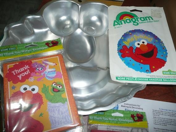 Wilton Elmo Face Cake Pan 1 Anagram Balloon 2 You Re Invites 2 Thank You S