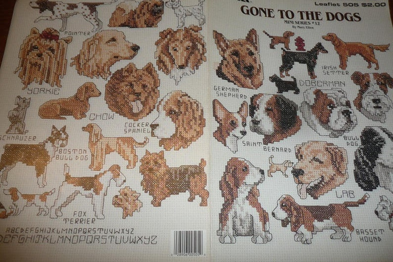 Gone To The Dogs Mini Series # 12 Cross Stitch Leisure Arts