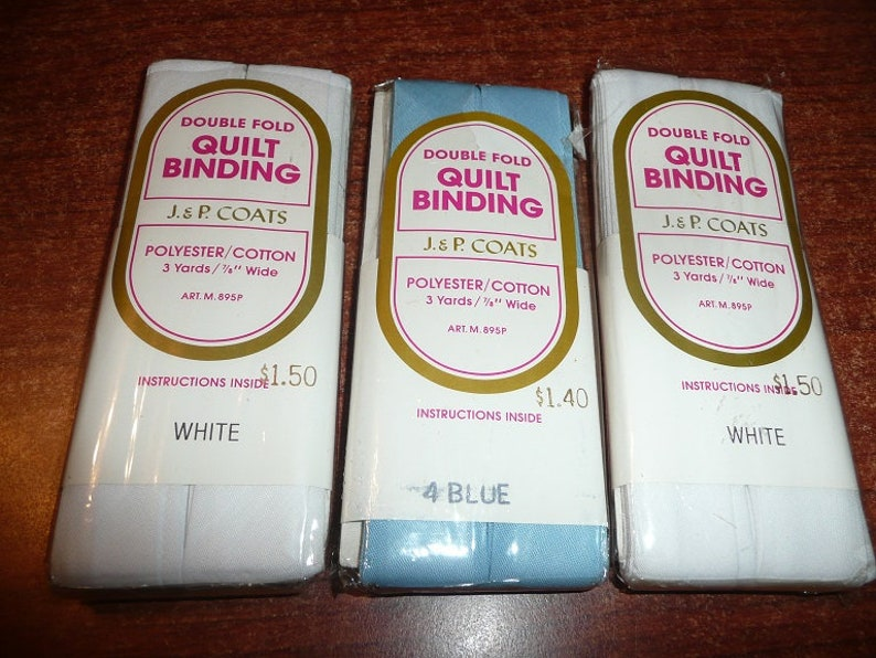 Wright/'s Double Fold Bias Tape Quilt Binding Blue