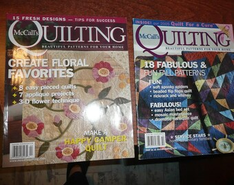 McCall's Quilting Magazines 2004 & 2005 You Choose The Issues