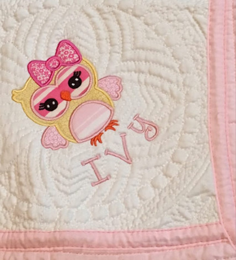 Personalized Baby Quilt Baby Quilt Monogrammed Baby Quilt image 0