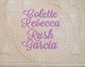 Personalized Baby Quilt, Baby Quilt, Monogrammed Baby Quilt, Cotton Quilt, Baptism Gift, Baby Shower Gift