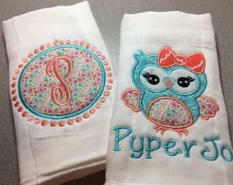 Baby Burp Cloths, Personalized Burp Cloth, Baby Burp Cloth, Burp Cloth Set, Baby Girl Burp Cloth, Baby Boy Burp Cloth, Newborn Gift