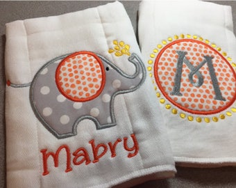 Baby Burp Cloths, Personalized Burp Cloth, Baby Burp Cloth, Burp Cloth Set, Baby Girl Burp Cloth, Baby Boy Burp Cloth