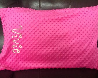 Personalized Pillow Case, Minky Pillow Case, Monogrammed Pillow Case, Custom Pillow Cover,  Pillow Case, Name Pillow