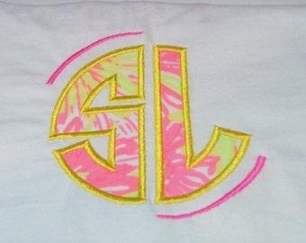Monogram Shirt, Lilly Pulitzer Monogrammed Tshirt, Women's Monogram Shirt, Lilly Pulitzer, Short Sleeved Monogrammed Lilly Pulitzer Shirt