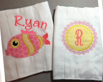 Baby Burp Cloths, Personalized Burp Cloth, Baby Burp Cloth, Burp Cloth Set, Baby Girl Burp Cloth, Newborn Gift