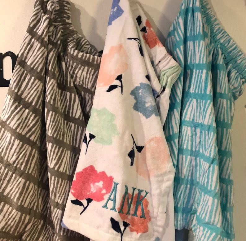 Monogrammed Towel Wrap Spa Wrap Bath Wrap Bridesmaid Towel image 0