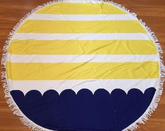 Round Beach Towel, Monogram Beach Towel, Round Beach Towel, Personalized Beach Towel, Graduation Gift, Birthday, Beach, Pool