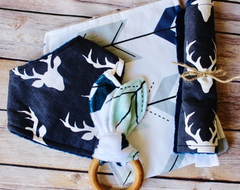 Baby Boy Gift – Woodland Deer Silhouette Gift
