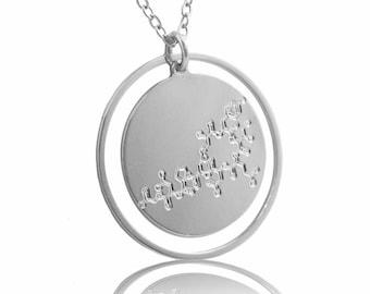 Silver Oxytocin Molecule necklace -chemistry jewelry science jewelry new mom gift unique jewelry newborn gift