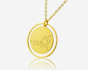 Oxytocin Molecule necklace -chemistry jewelry science jewelry new mom gift unique jewelry newborn gift