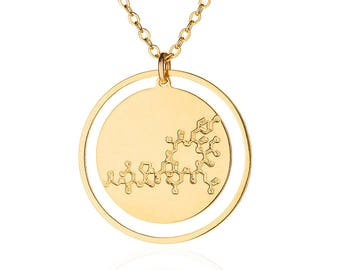 Oxytocin necklace Molecule necklace -chemistry jewelry science jewelry new mom gift mother gift doula gift necklace