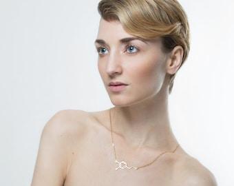 Dopamine molecule necklace - 14k gold chemistry jewelry, chemistry necklace, science jewelry Molecule necklace