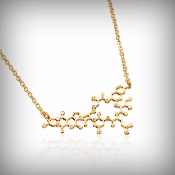 Molecule Necklace Oxytocin Dainty Minimalist Chemistry Jewelry Necklace