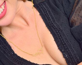 Oxytocin Molecule necklace Dainty chemistry jewelry science jewelry newborn mother gift minimalist necklace