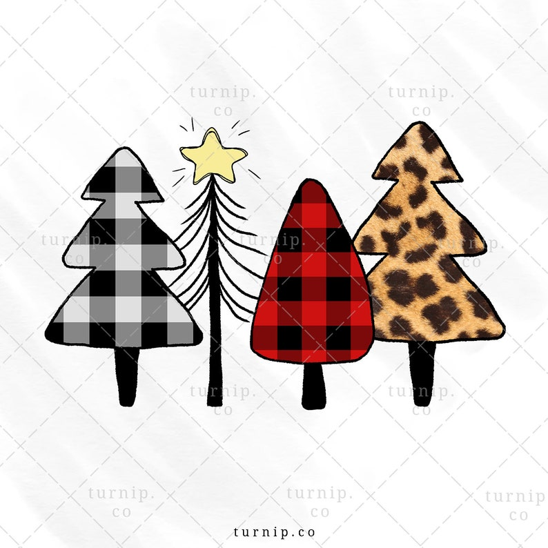 Christmas Tree Sublimation Clipart PNG Graphic Design Cartoon PNG