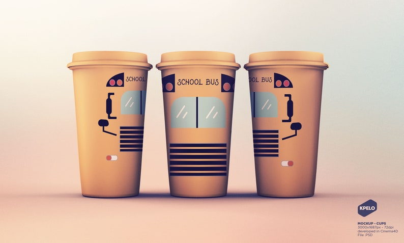 School Bus Sublimation Clipart Tumbler Graphic