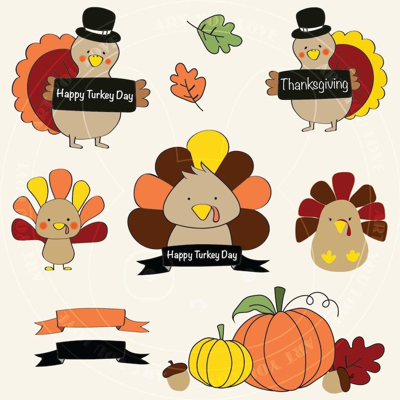Turkey Clipart  Thanksgiving image 0
